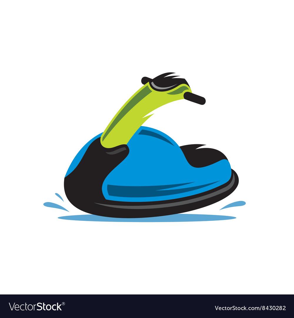 jet ski cartoon royalty free vector image - vectorstock