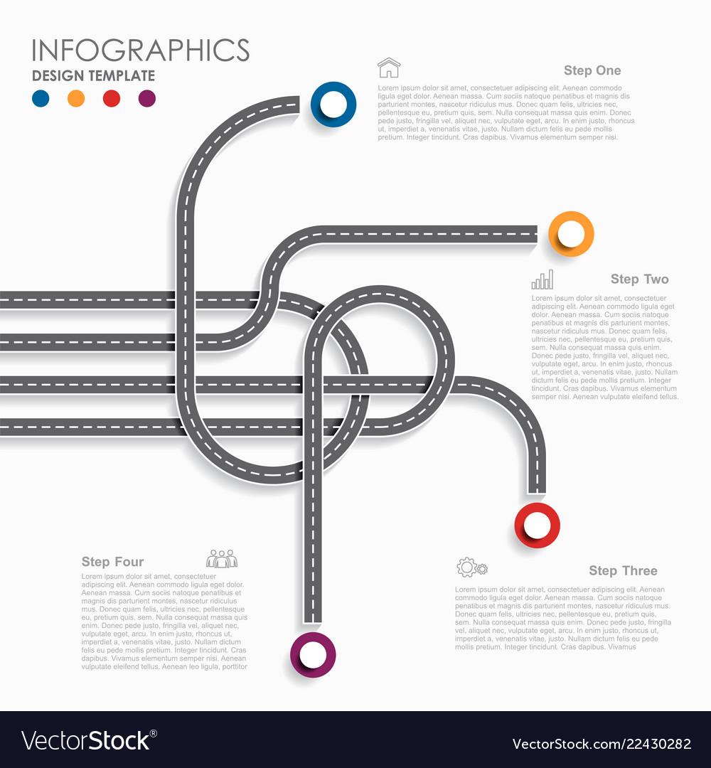 Navigation roadmap infographic timeline concept