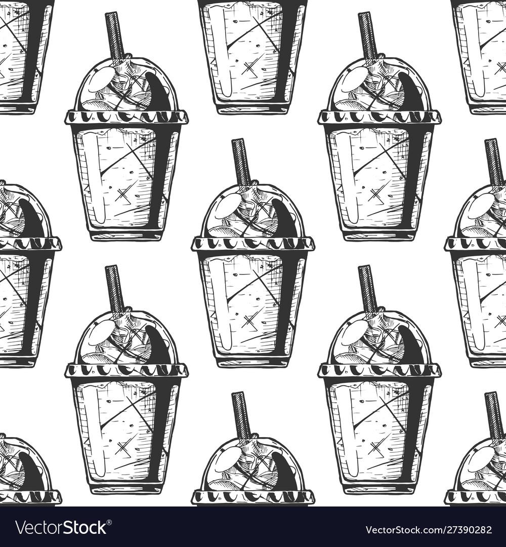 Pattern with milkshake