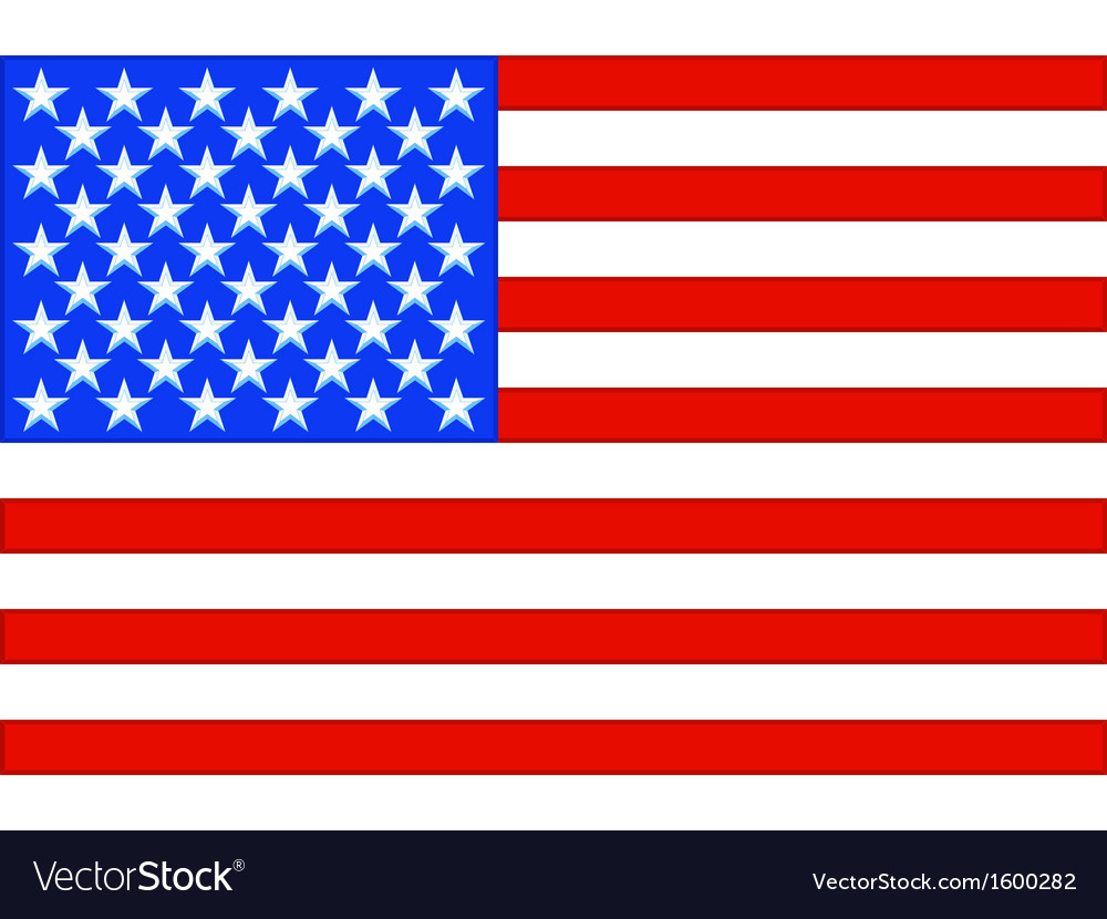 usa flag royalty free vector image vectorstock rh vectorstock com vector usa flag pin free vector usa flag