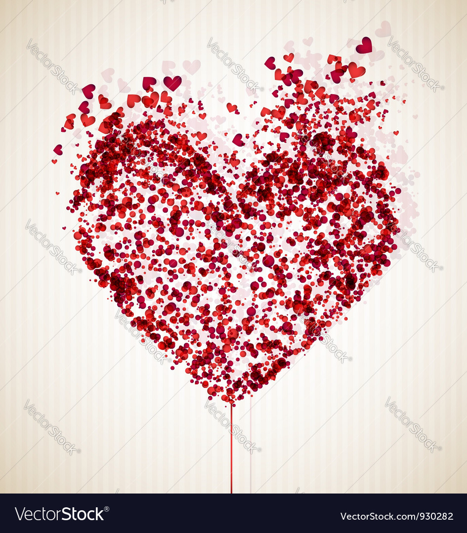 Vulnerable heart vector image