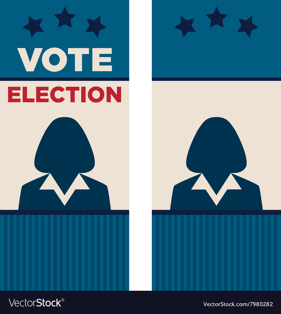 Election Brochure   Woman President Election Brochure Covers Vector Image