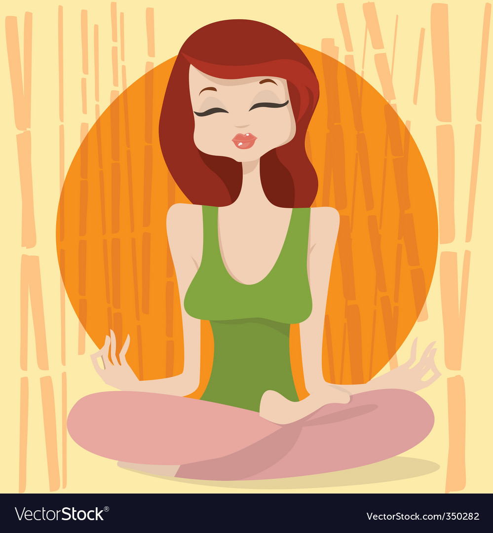 Yoga time vector image