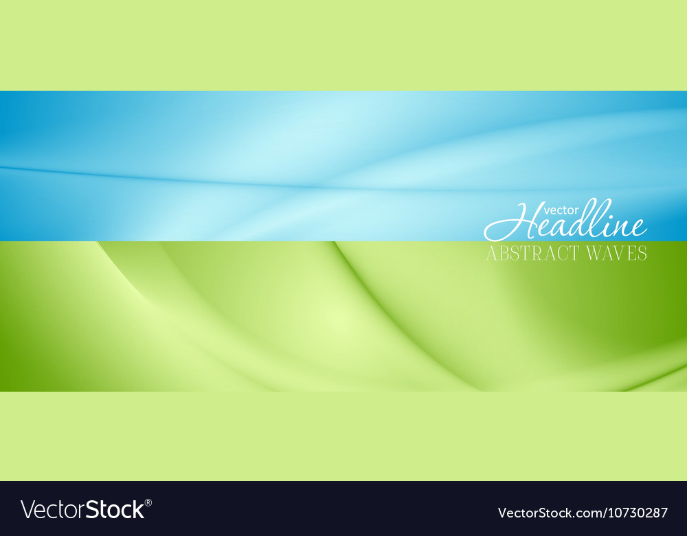 Abstract bright banners with soft waves vector image