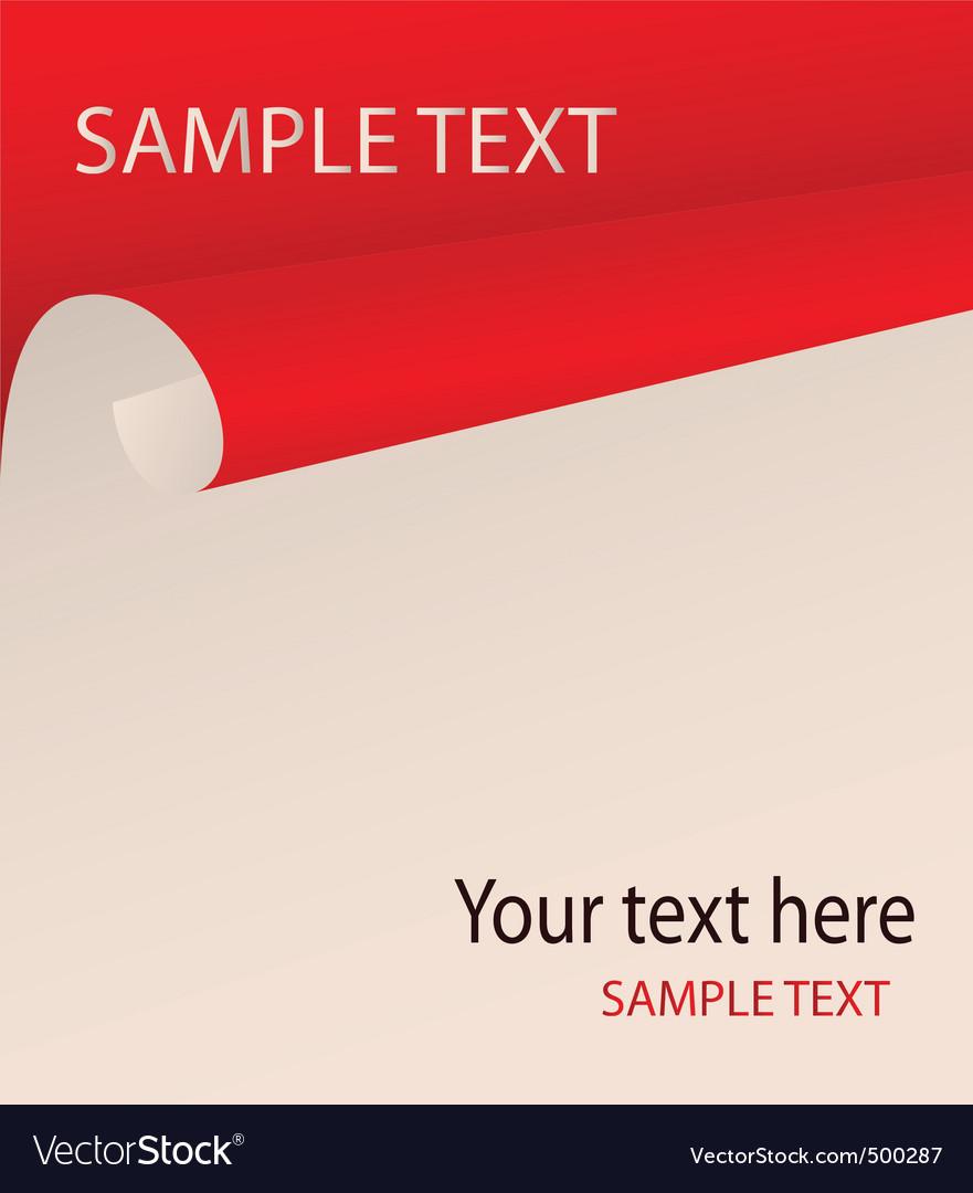 Bent paper vector image