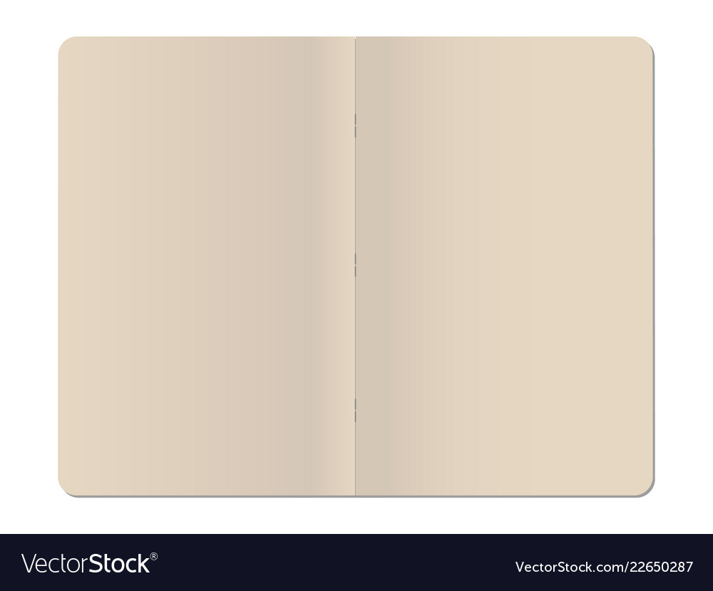 Blank stapled notebook isolated on white