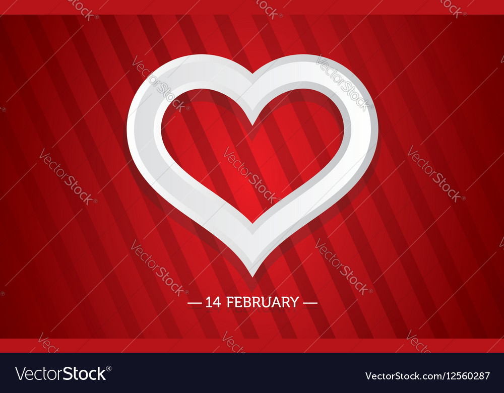 Bright Valentine day card with a Heart vector image