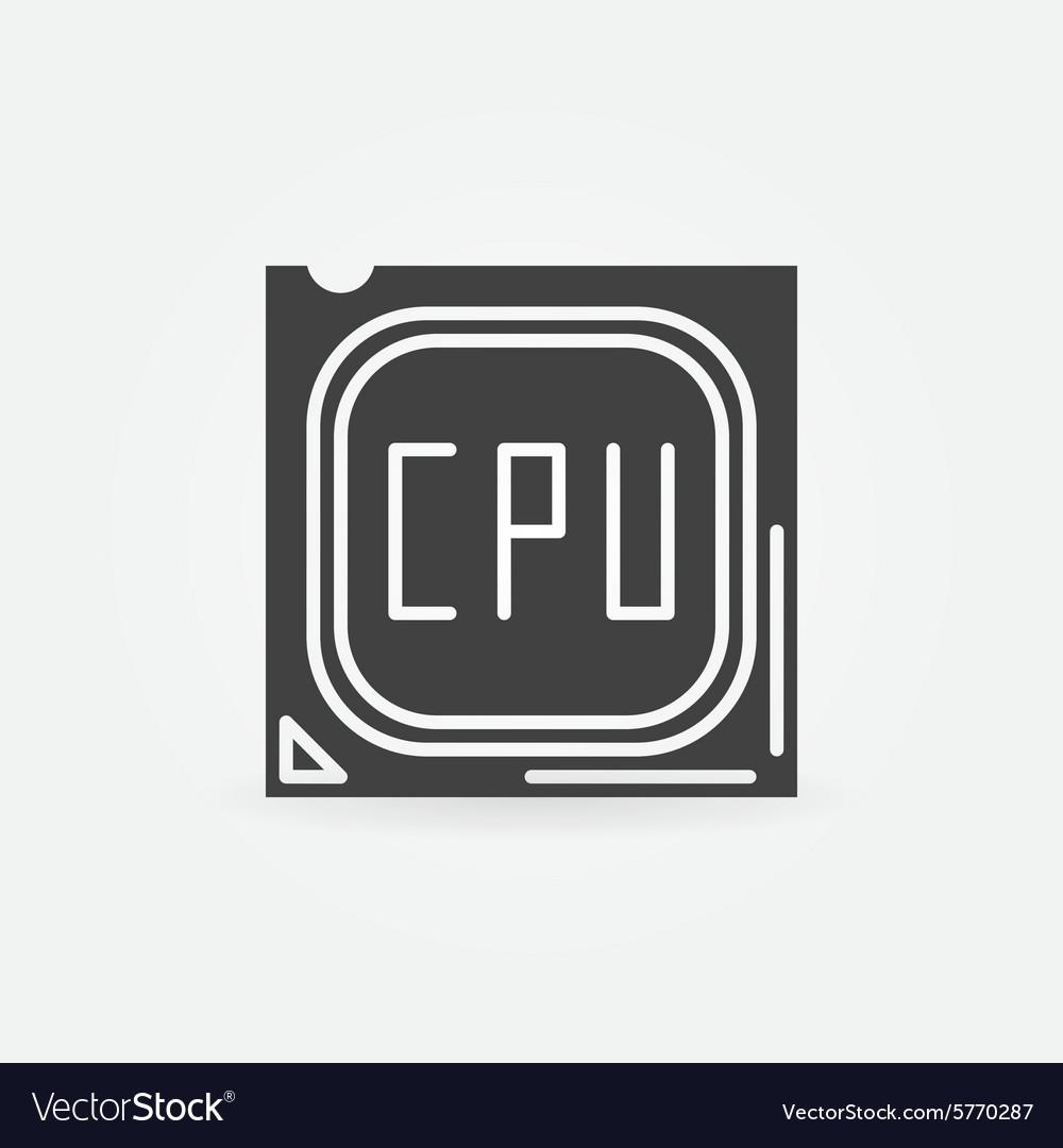 cpu icon or logo royalty free vector image vectorstock vectorstock