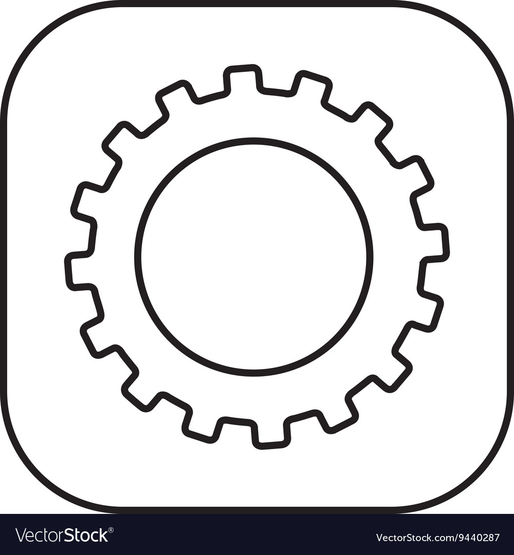 Gear setup button isolated icon design