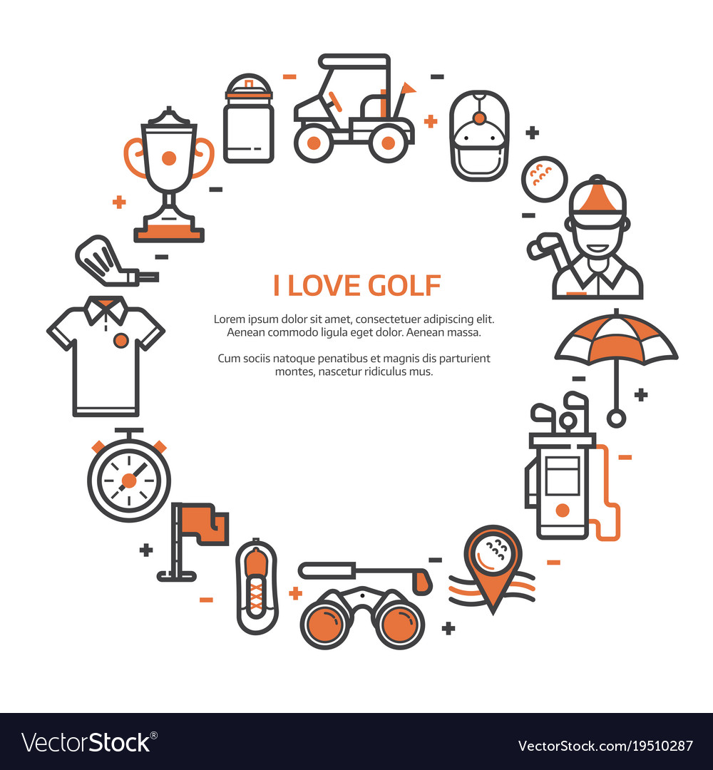 golf club card or invitation template royalty free vector