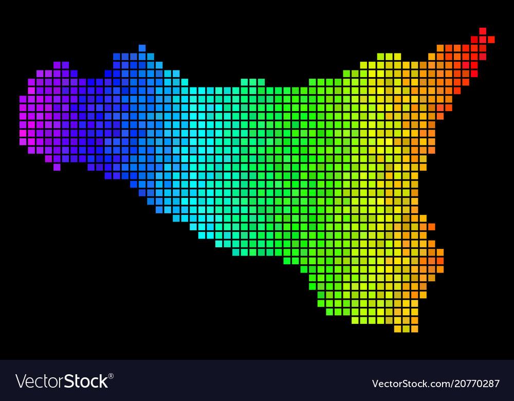 Luminous pixel sicilia map