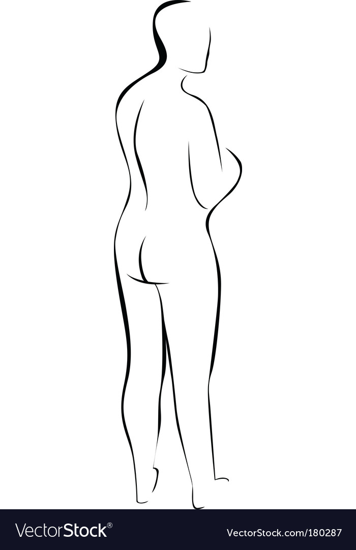 Silhouette of nude woman