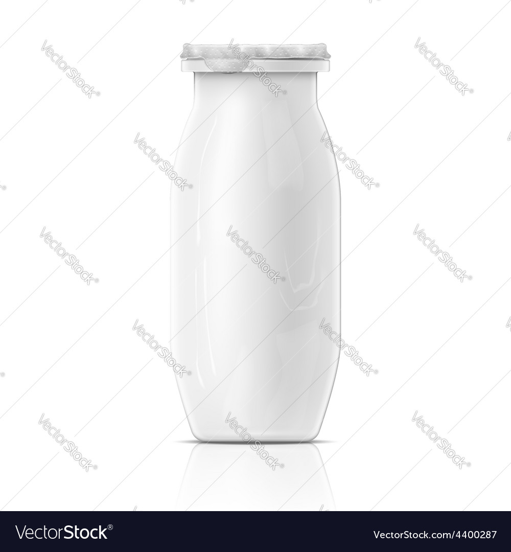 Small white yougurt bottle template