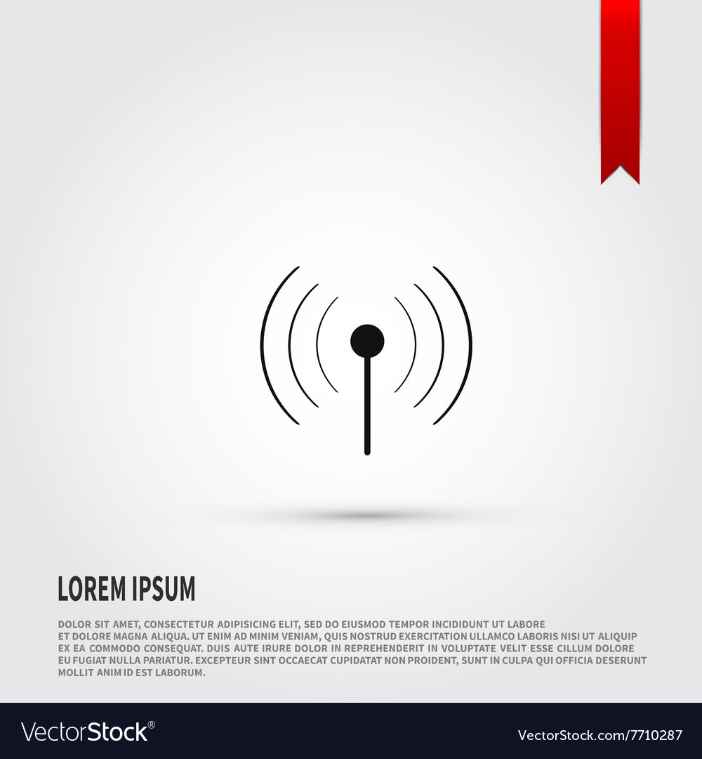 Wireless icon Flat design style Template for