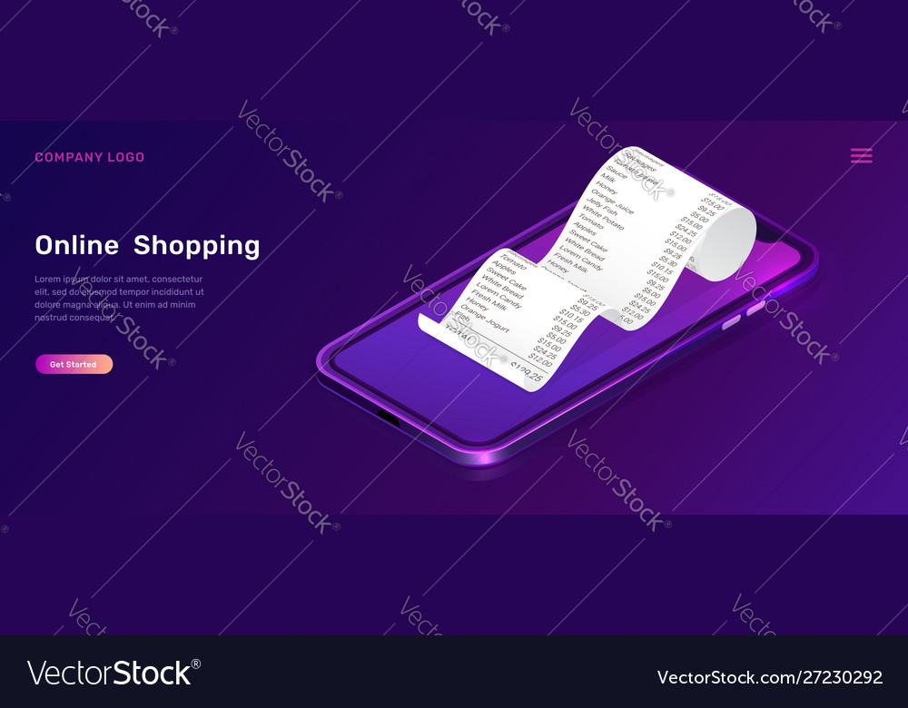 Online shopping isometric concept for mobile app