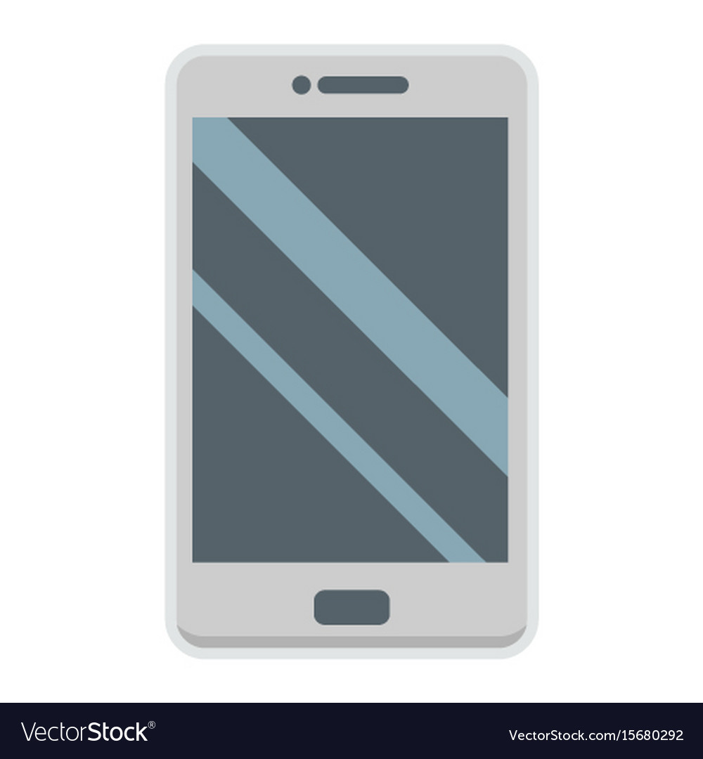 Smartphone flat icon phone and touch screen