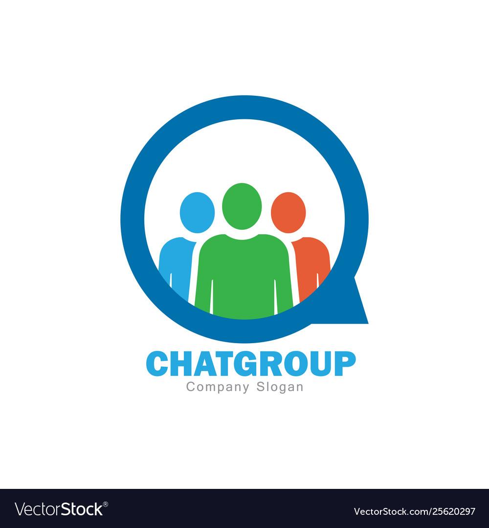 Chat group logo design