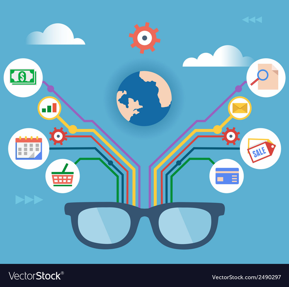 Concept of modern technology and management vector image