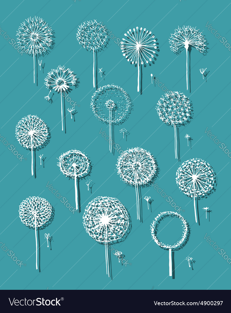 Dandelions collection sketch fro your design