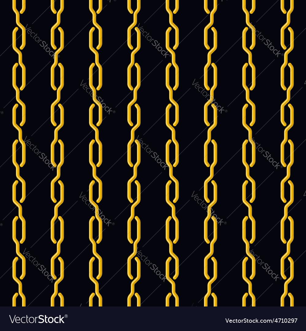 Fashion seamless pattern golden chain on dark