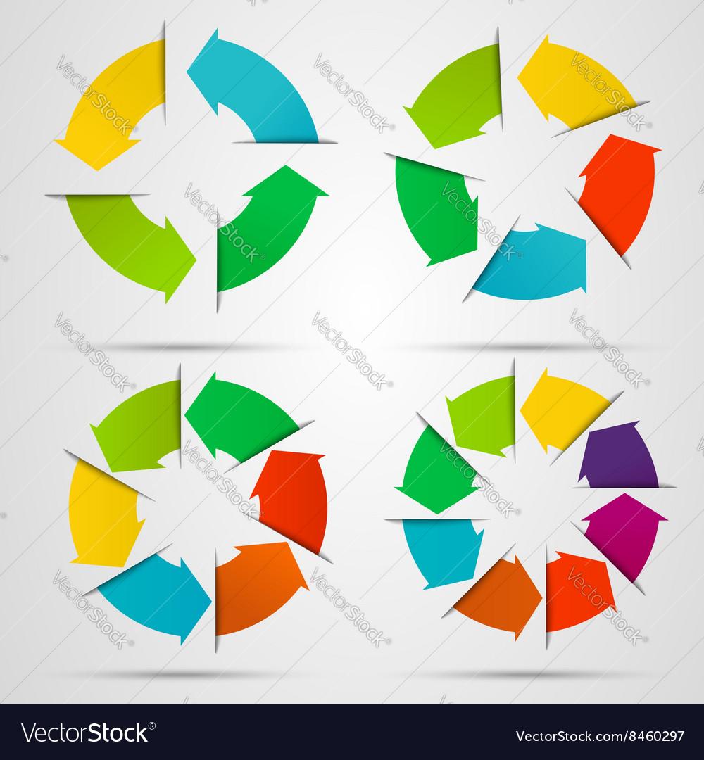 Set of circle arrows