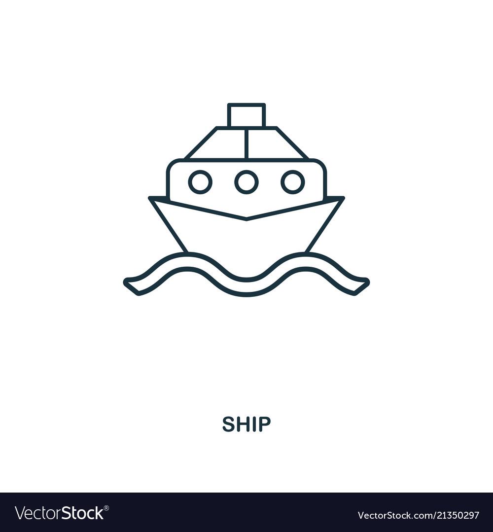 Ship icon outline style icon design ui