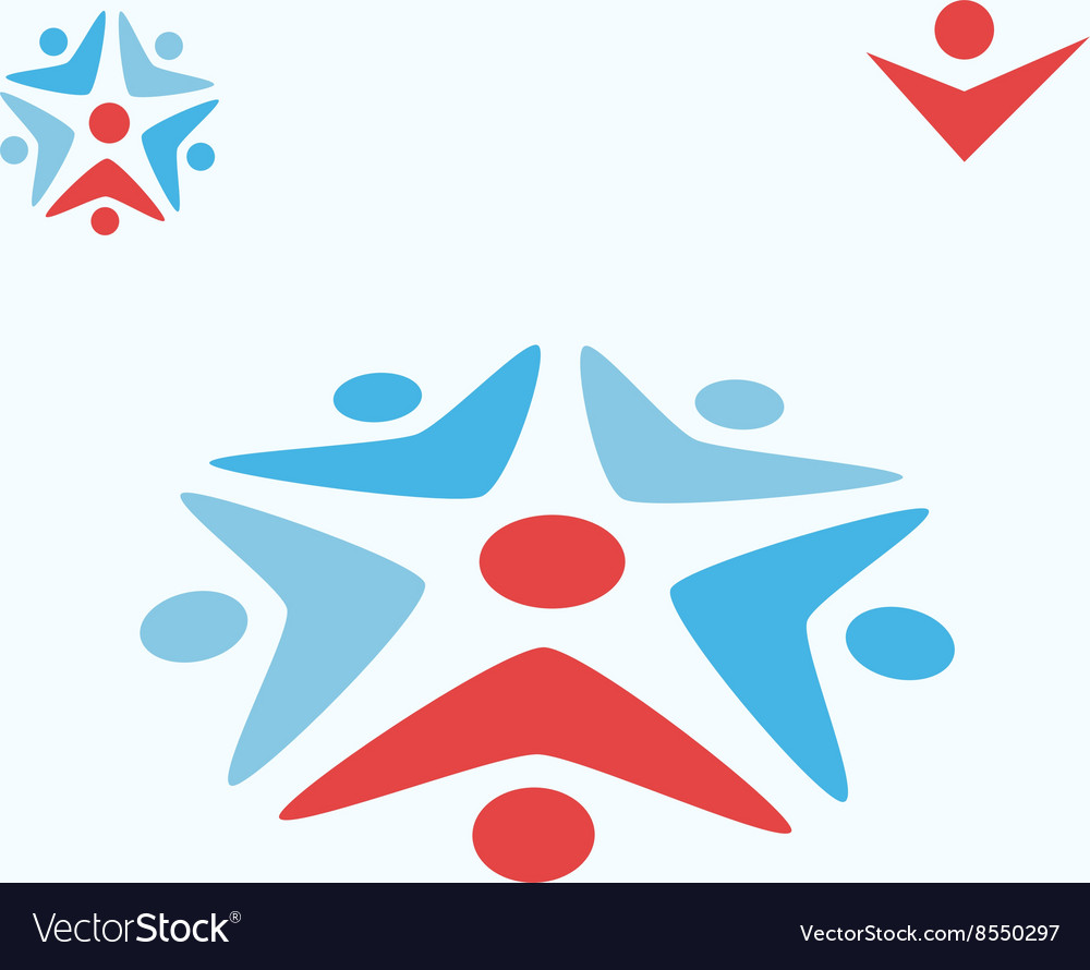 Team work concept sign vector image