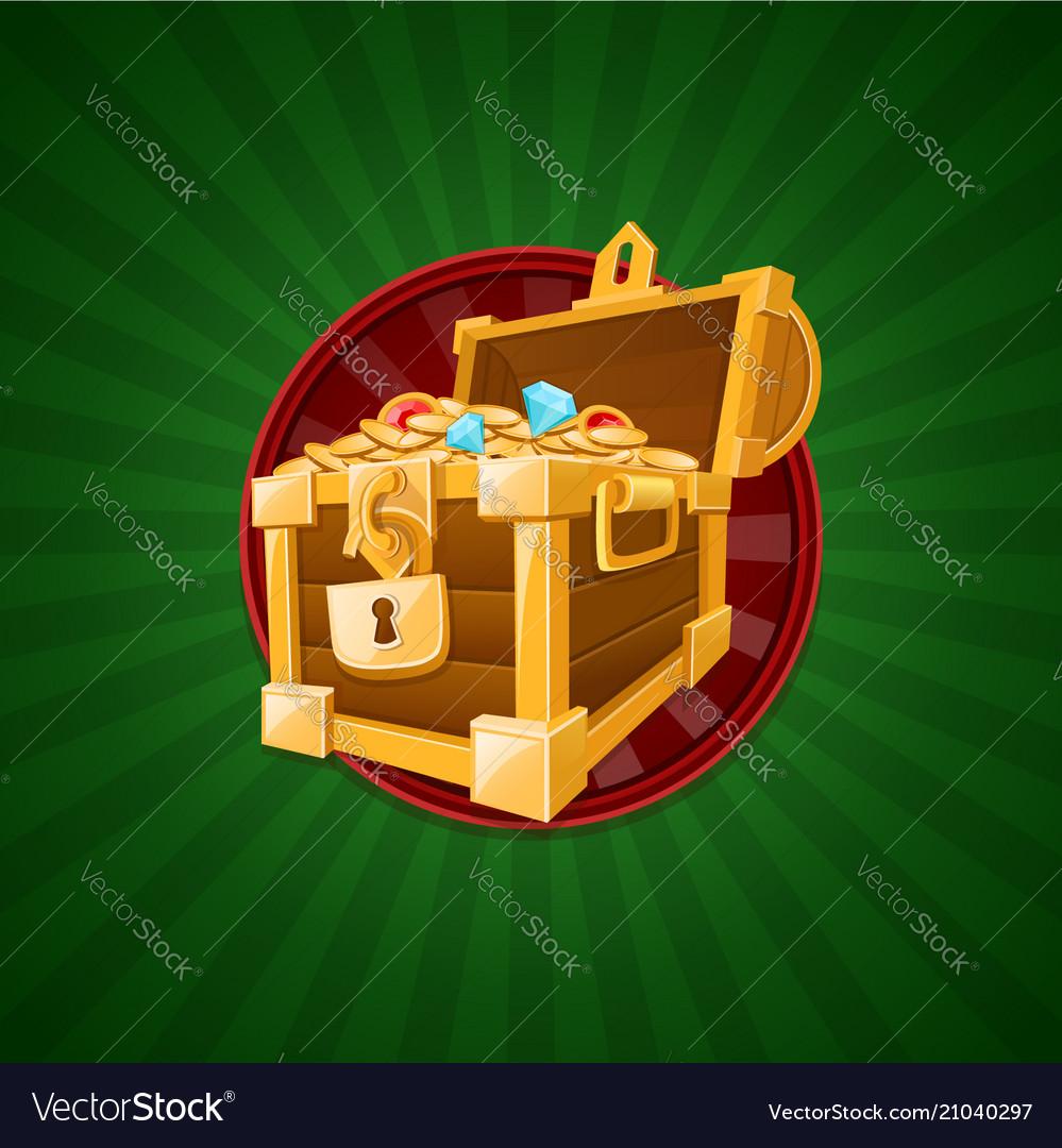 Treasure concept of treasure chest