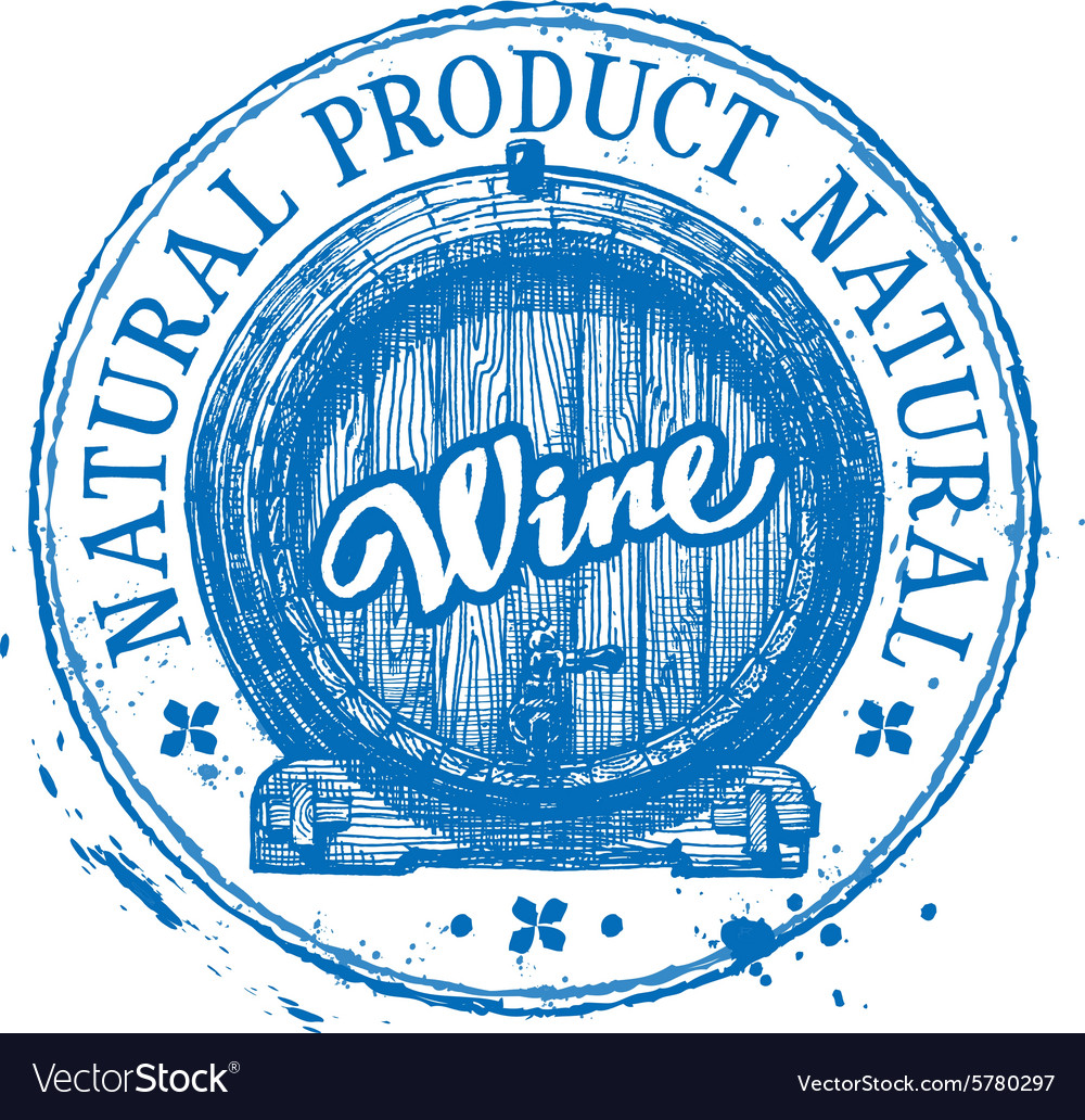 Wine logo design template oak barrel or vector image