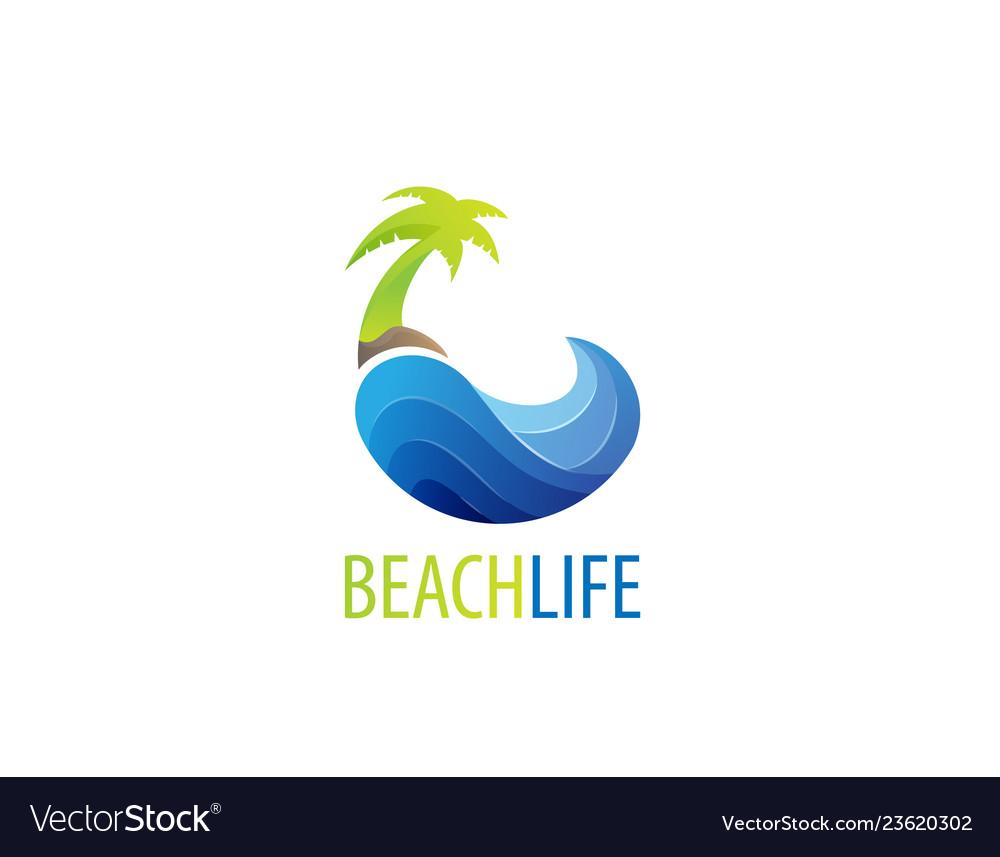Beach life logo design