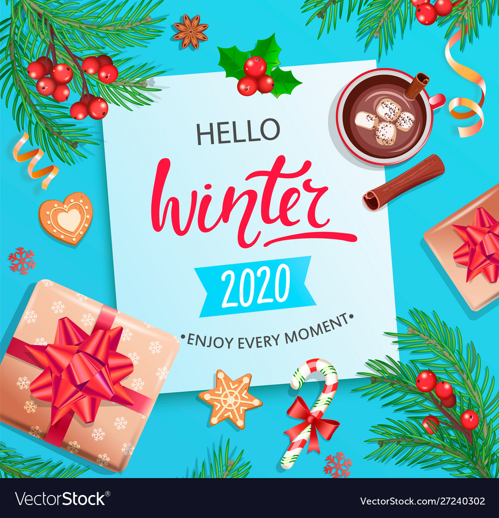 Hello winter 2020 card