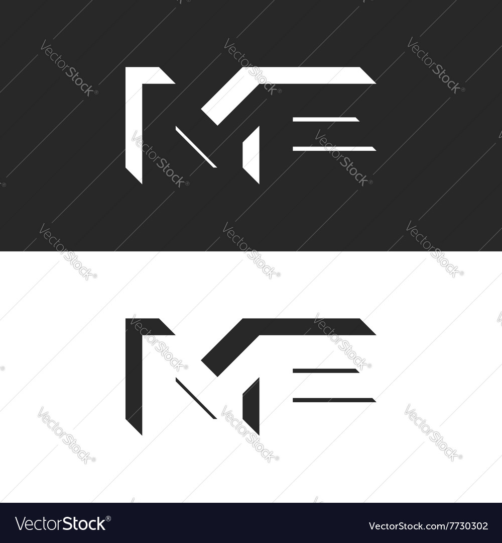 Letters me logo initials wedding invitation or vector image stopboris Image collections