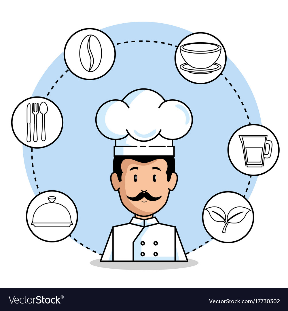 Professional chef cartoon vector image