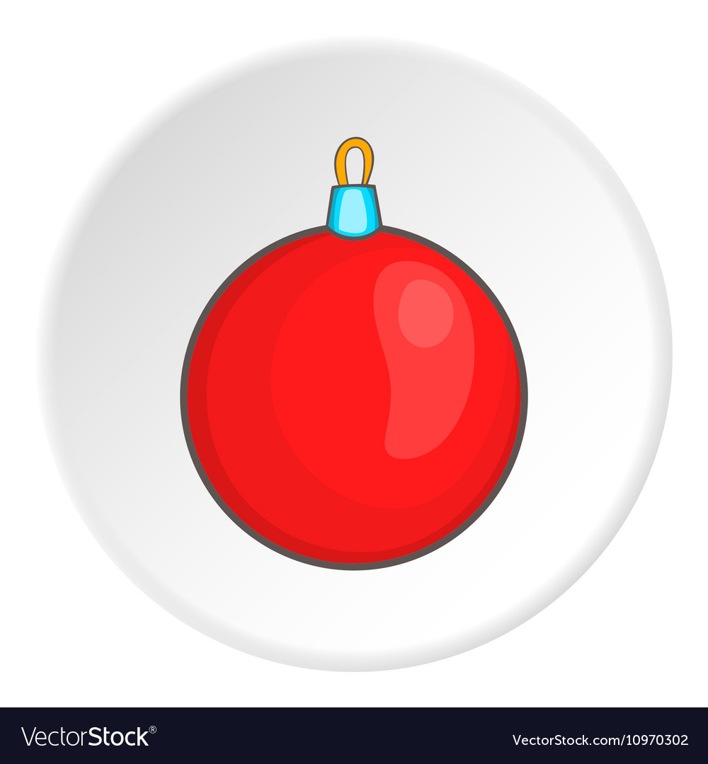 Red Ball For Christmas Tree Icon Cartoon Style Vector Image Postman patthe magic christmaschristmas special full episode christmas cartoon for kids. vectorstock