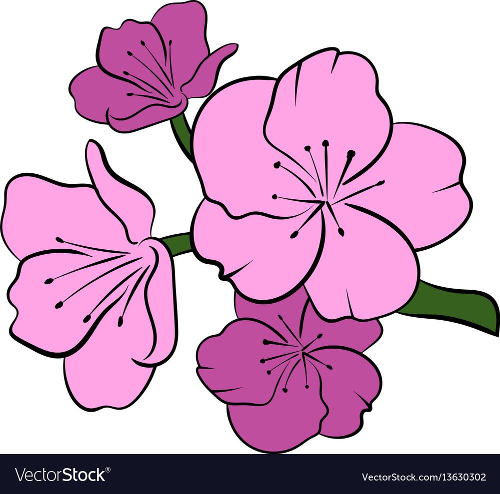 Sakura icon cartoon