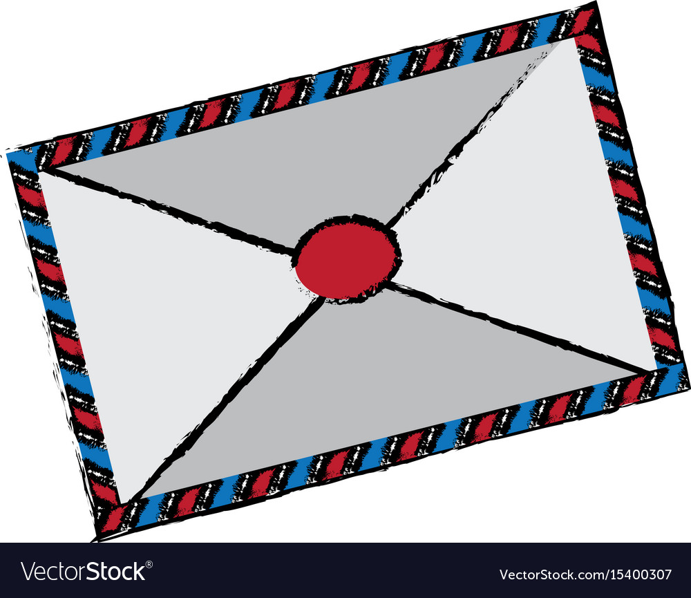 Air mail envelope postal stamp letter symbol