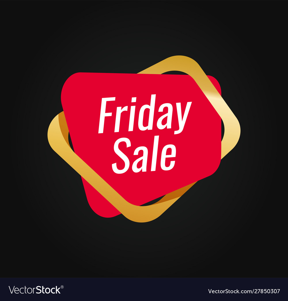Friday sale tag template for shop or web site red