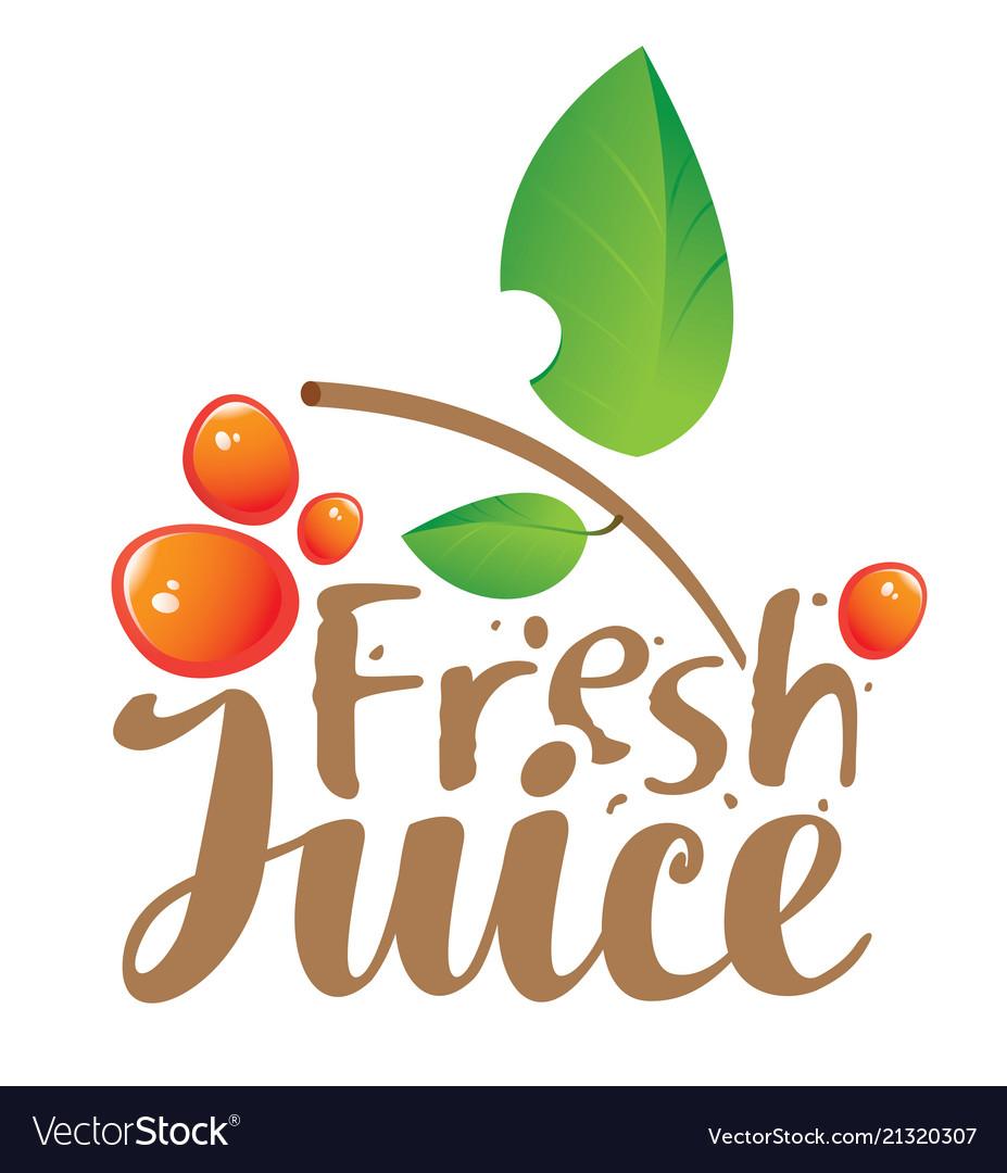 Logo with inscription fresh juices