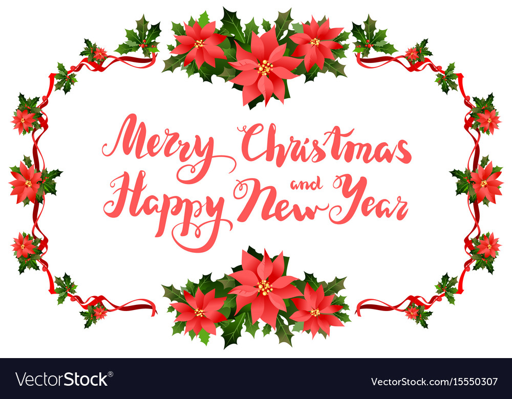 Merry christmas festive frame Royalty Free Vector Image