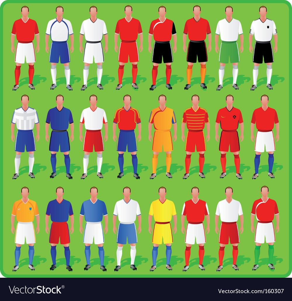 f1c426f36 National teams of European football Royalty Free Vector