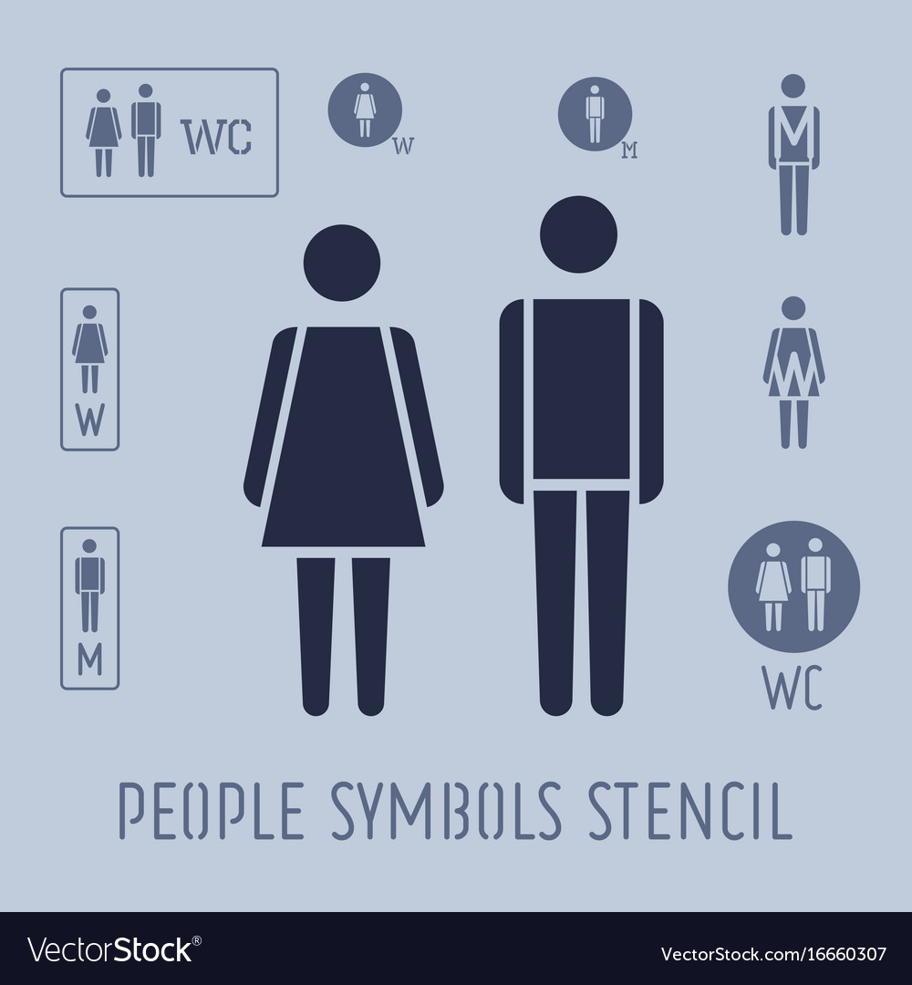 People pictogram for toilet female and male