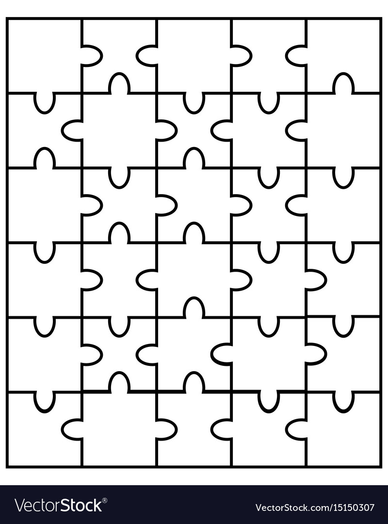 White puzzle separate parts