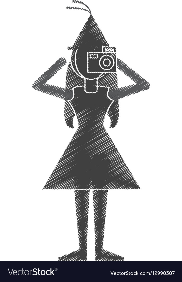 Woman take a picture icon design vector image