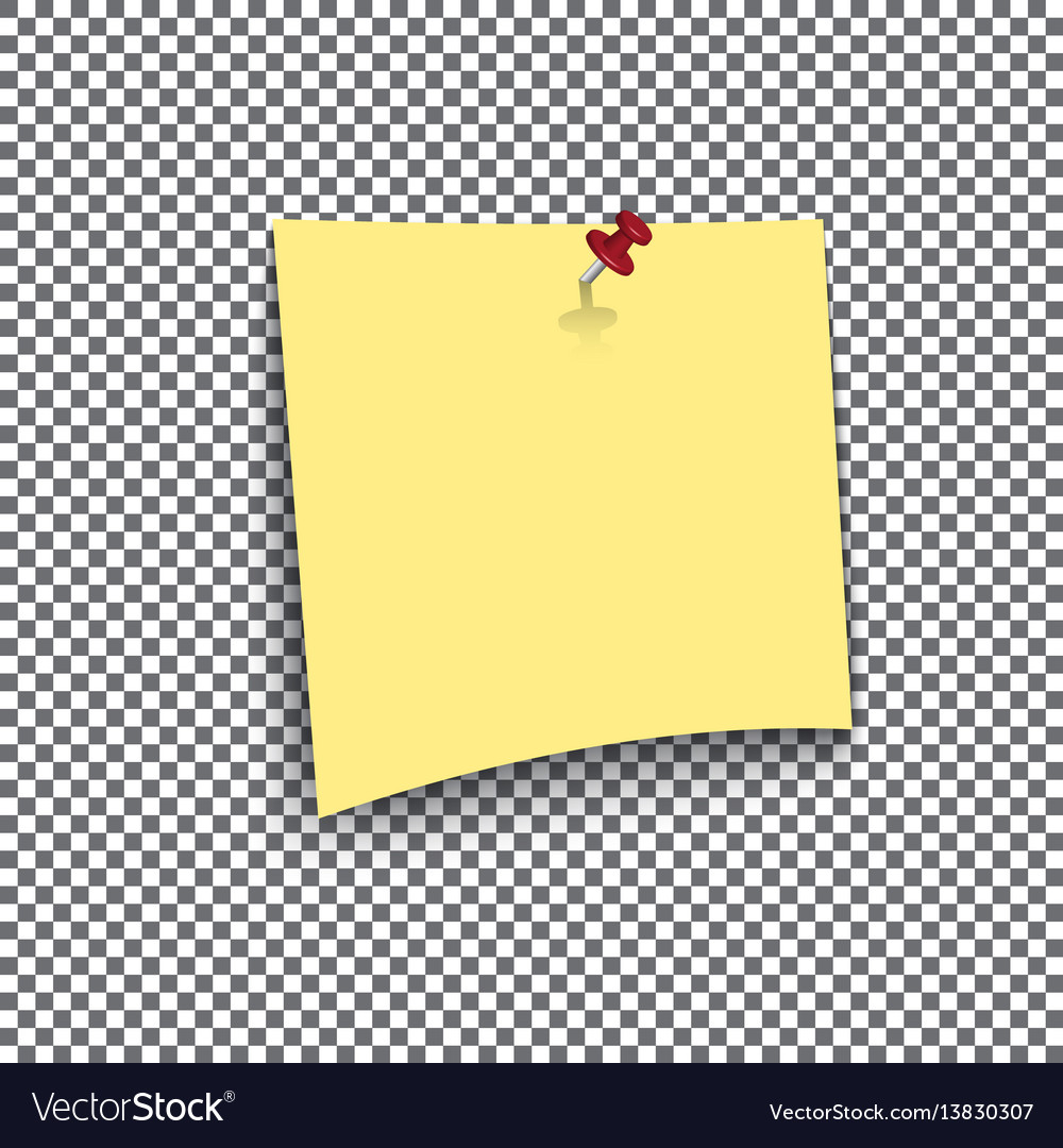 Yellow sticky note isolated on transparent