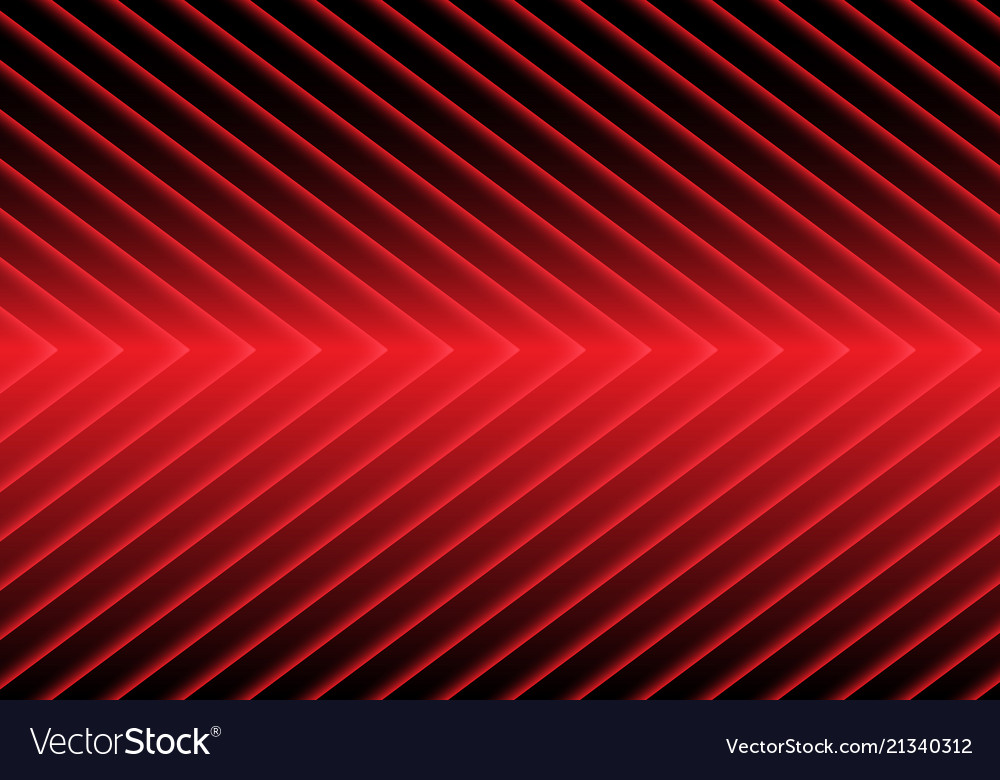 Abstract red arrow light pattern on black design
