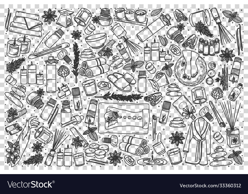 Aromatherapy doodle set