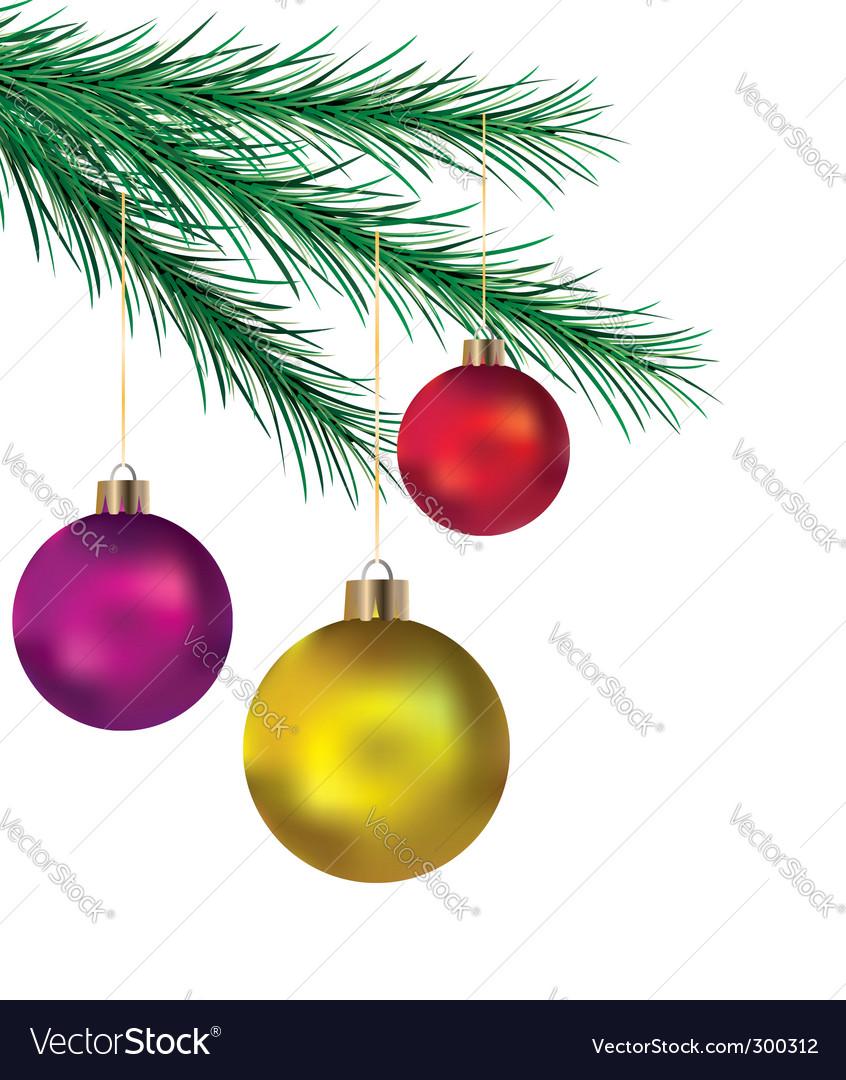Balls on Christmas tree