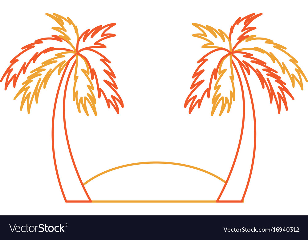 Beach landscape isolated icon