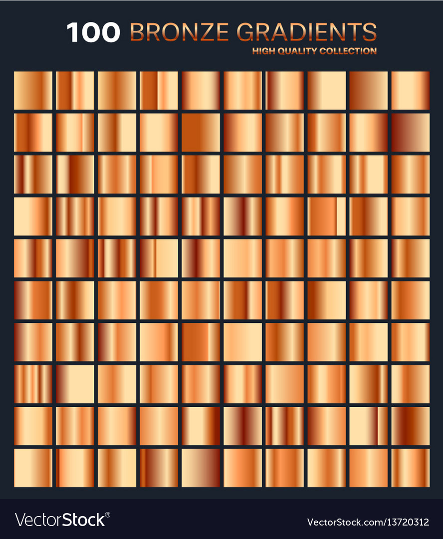 Bronze gradientpatterntemplateset of colors for