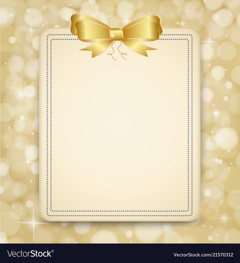 Festive golden background abstract banner